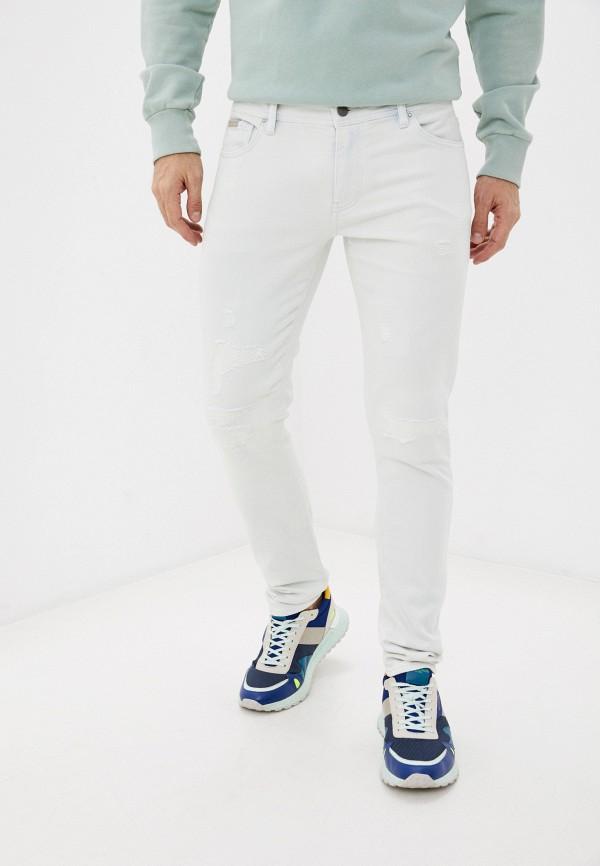 мужские зауженные джинсы armani exchange, белые