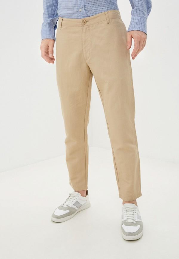 мужские прямые брюки armani exchange, бежевые