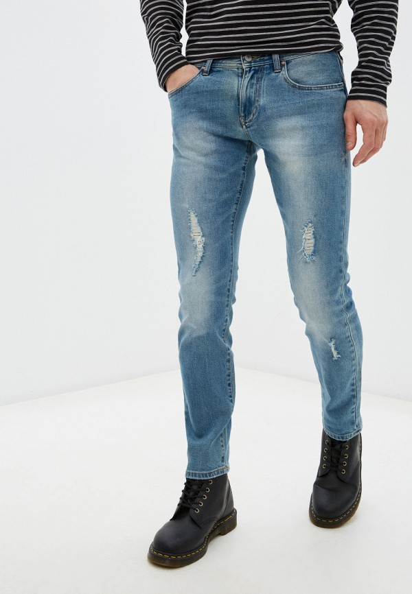 мужские зауженные джинсы armani exchange, голубые