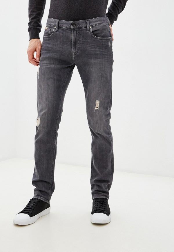 мужские зауженные джинсы armani exchange, серые