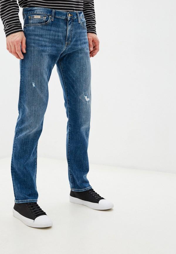 мужские зауженные джинсы armani exchange, синие