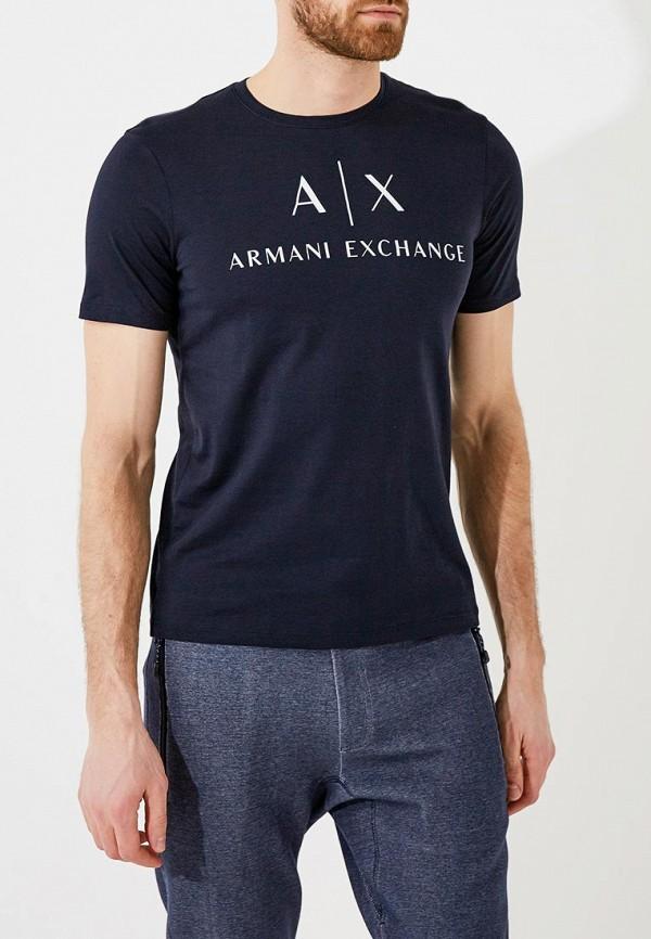 мужская футболка armani exchange, синяя