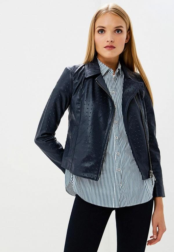 Купить Куртка кожаная Armani Exchange, Armani Exchange AR037EWBLFA2, синий, Осень-зима 2018/2019