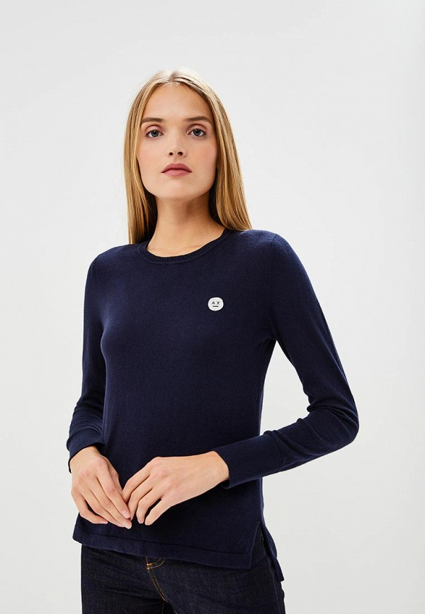 Купить Джемпер Armani Exchange, Armani Exchange AR037EWBLFE2, синий, Осень-зима 2018/2019