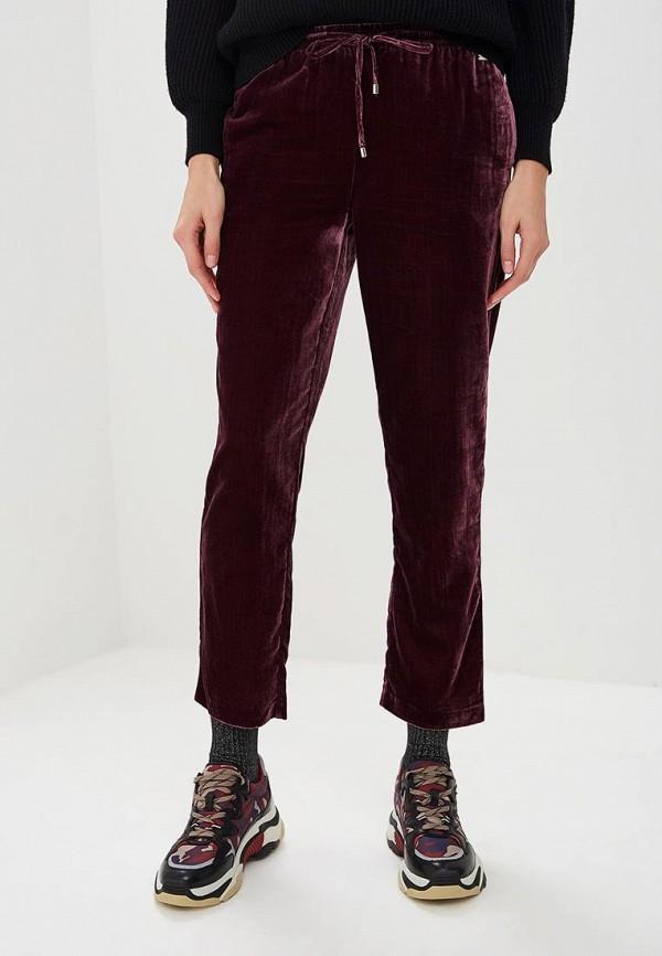 женские повседневные брюки armani exchange, бордовые