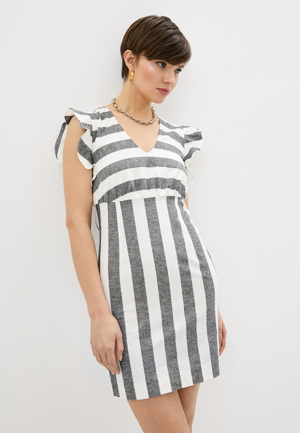 женское повседневные платье armani exchange, белое