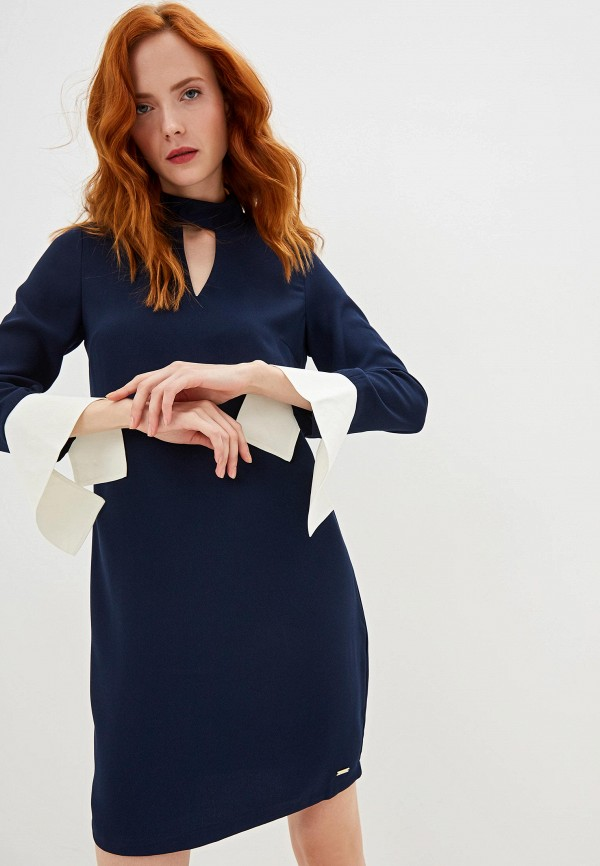 женское повседневные платье armani exchange, синее
