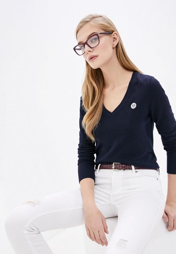 женский пуловер armani exchange, синий