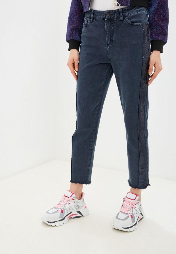 женские джинсы бойфренд armani exchange, синие