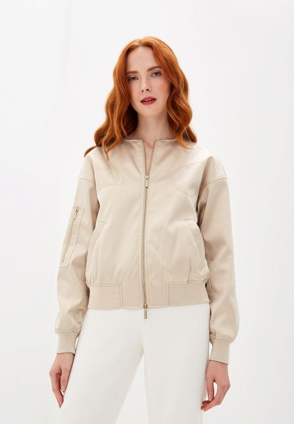 женская куртка armani exchange, бежевая