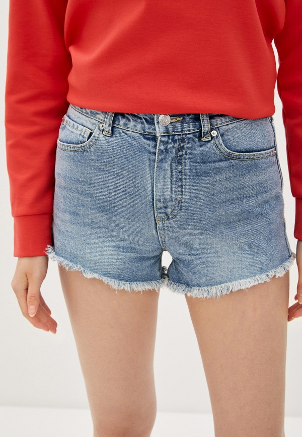 женские джинсовые шорты armani exchange, голубые