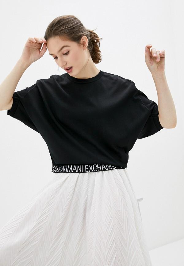 женский джемпер armani exchange, черный