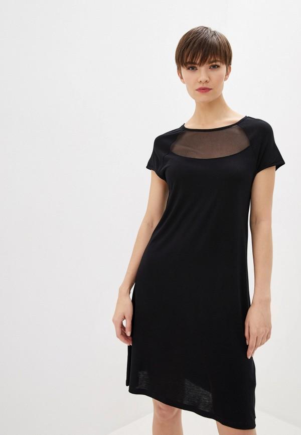 женское повседневные платье armani exchange, черное