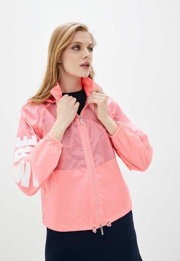 женская куртка armani exchange, розовая