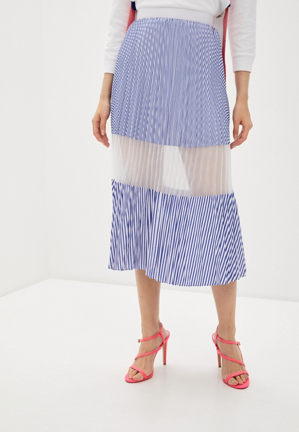 женская юбка armani exchange, синяя