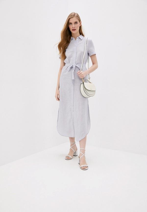 женское платье armani exchange, голубое