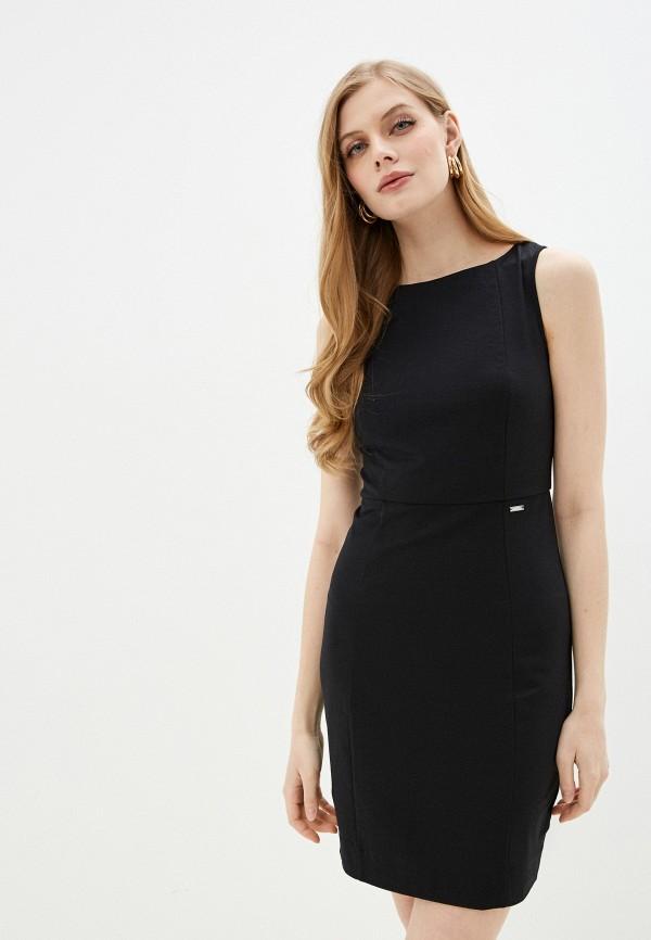 женское платье-футляр armani exchange, черное