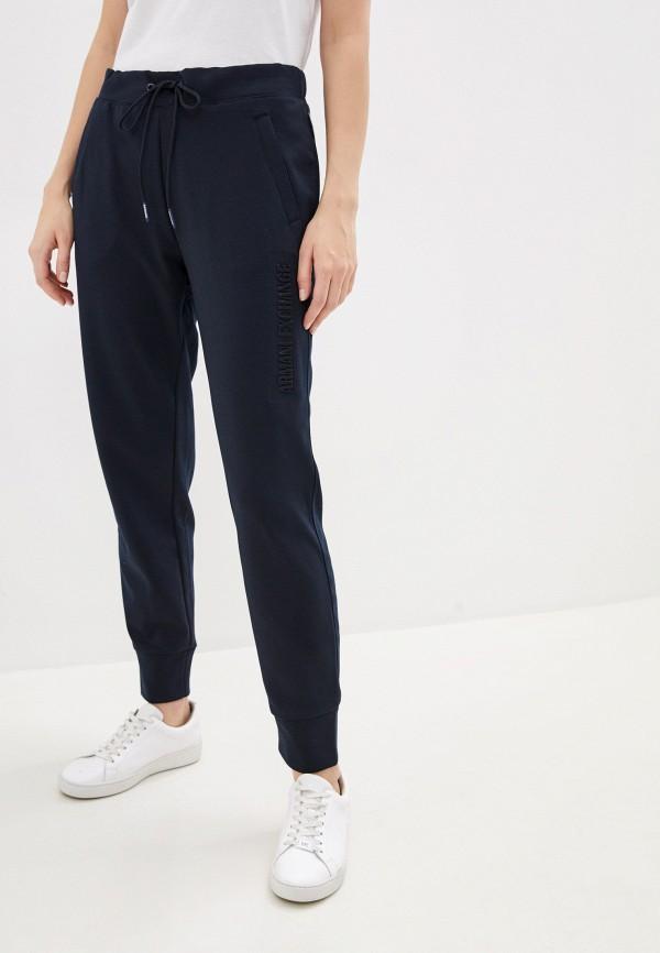 женские спортивные брюки armani exchange, синие