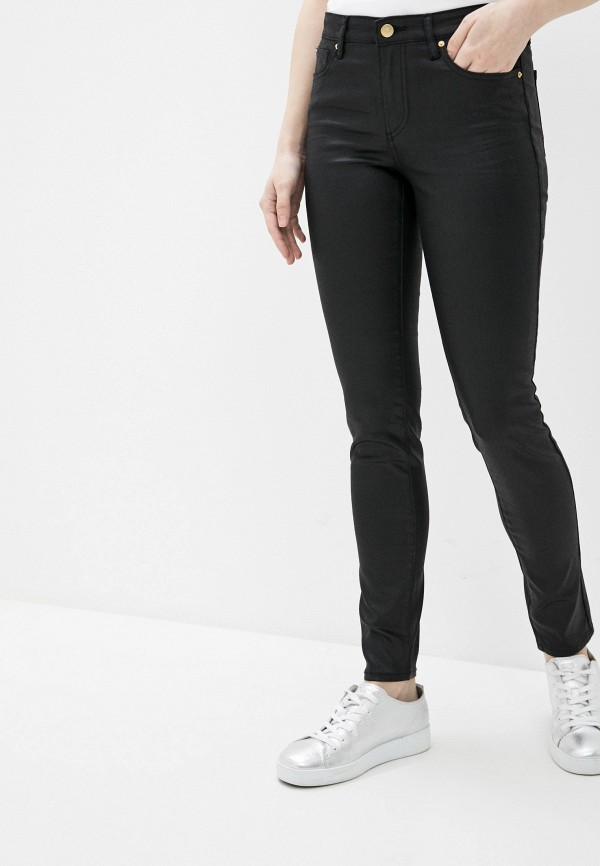 женские джинсы скинни armani exchange, черные