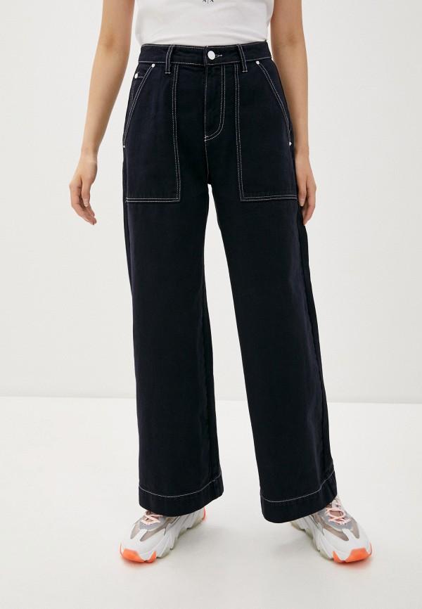 женские джинсы клеш armani exchange, синие