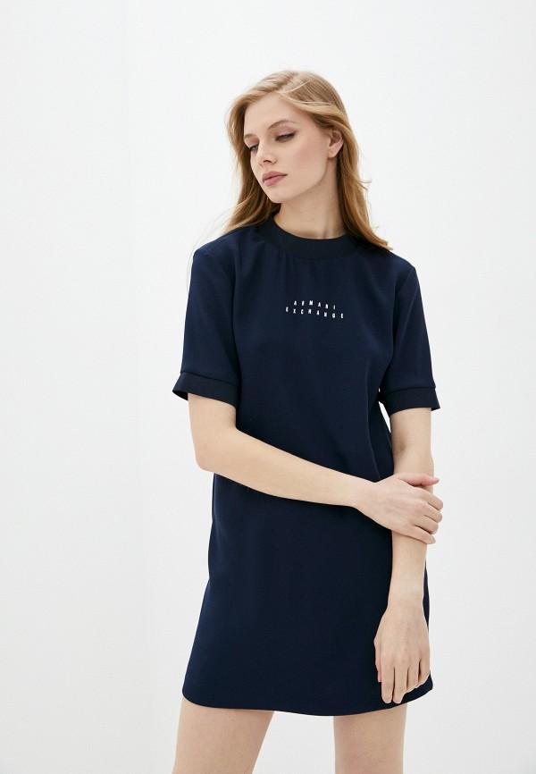женское платье armani exchange, синее