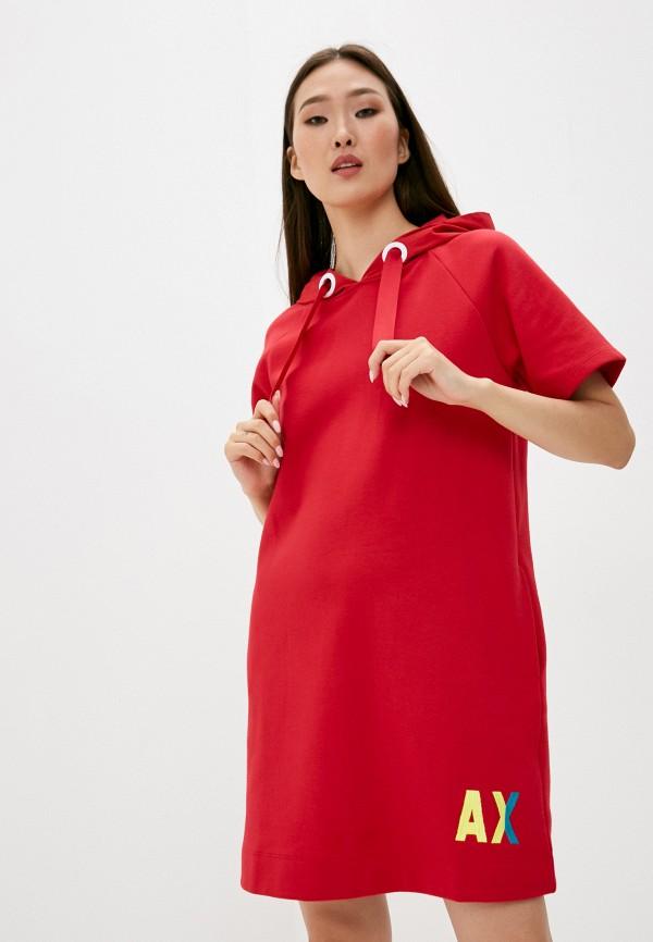 женское платье armani exchange, красное