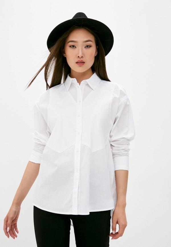 женская рубашка с длинным рукавом armani exchange, белая