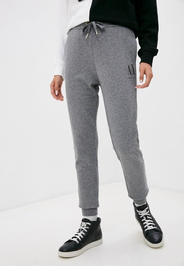женские спортивные брюки armani exchange, серые