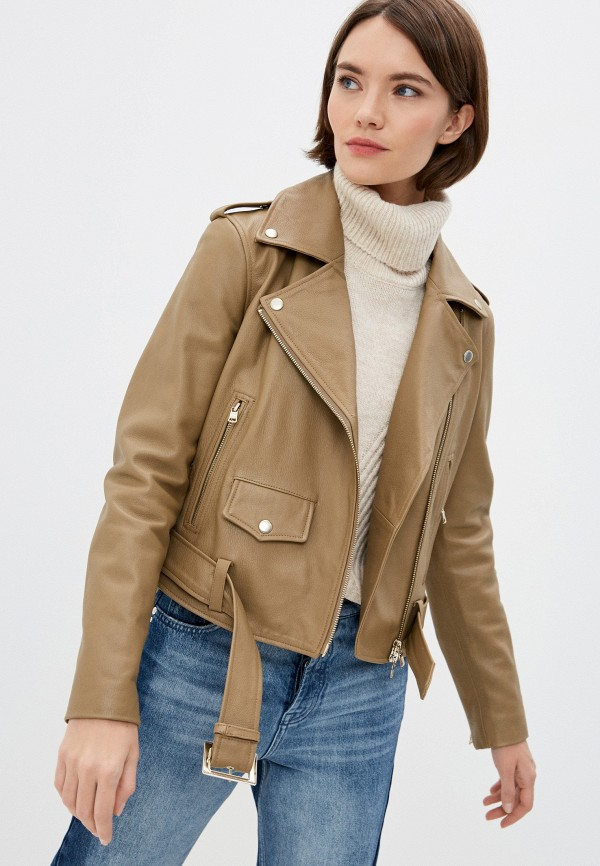 женская куртка armani exchange, коричневая