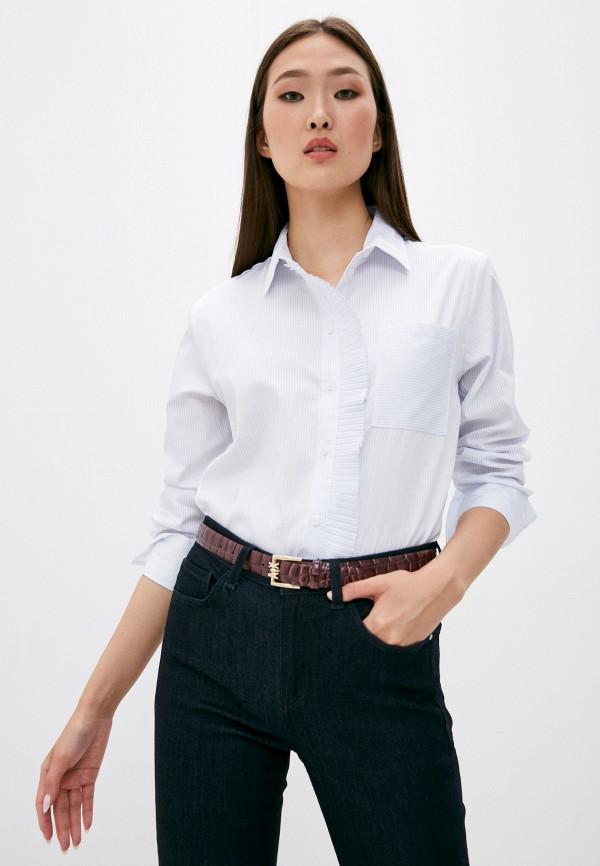 женская блузка armani exchange, голубая