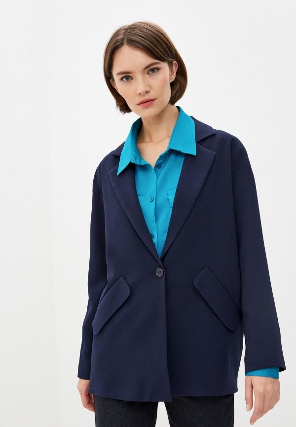 женский пиджак armani exchange, синий