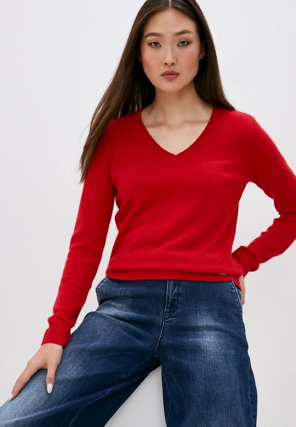 женский пуловер armani exchange, красный