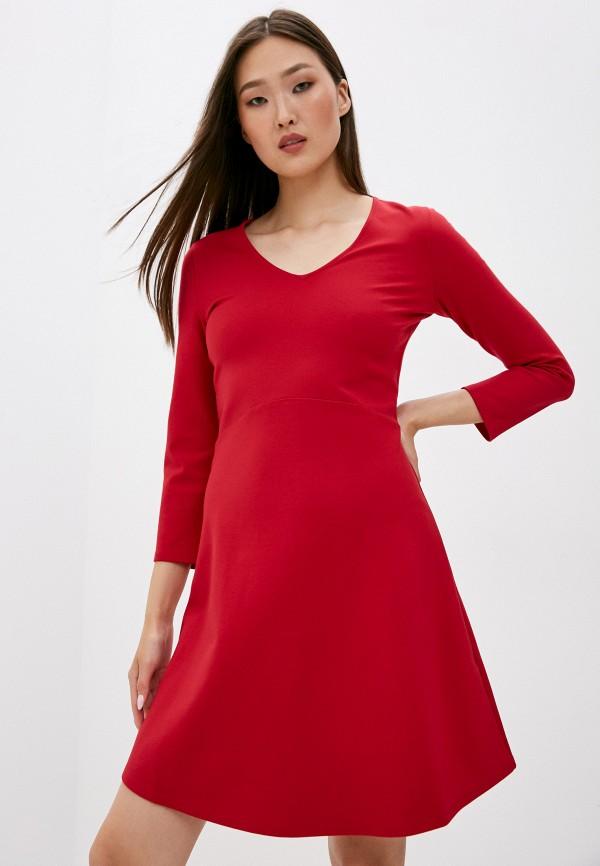 женское повседневные платье armani exchange, красное