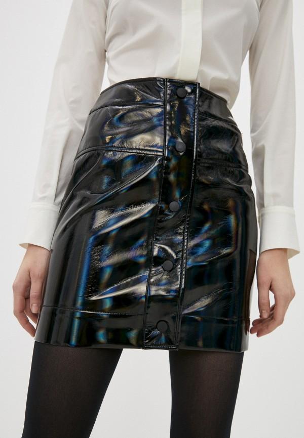 женская юбка armani exchange, черная