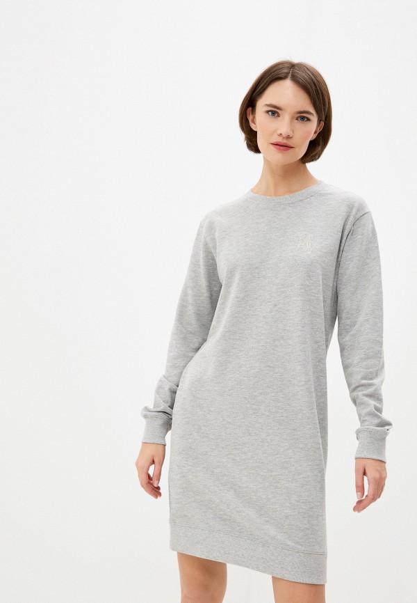 женское платье armani exchange, серое