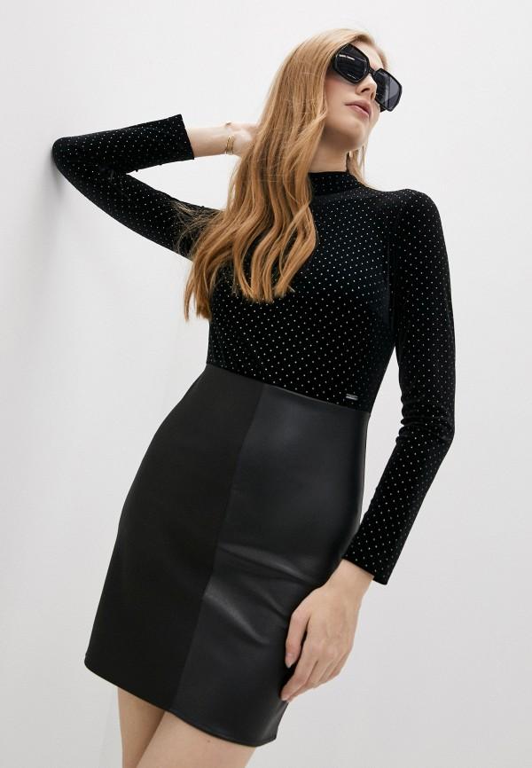 женское вечерние платье armani exchange, черное