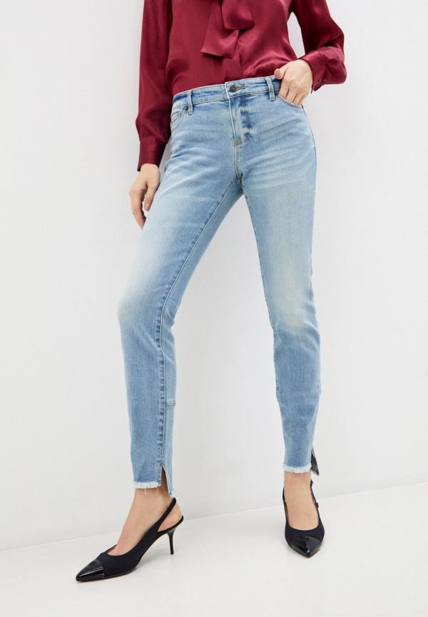 женские джинсы armani exchange, голубые
