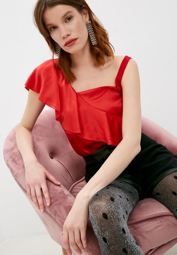 женская блузка armani exchange, красная