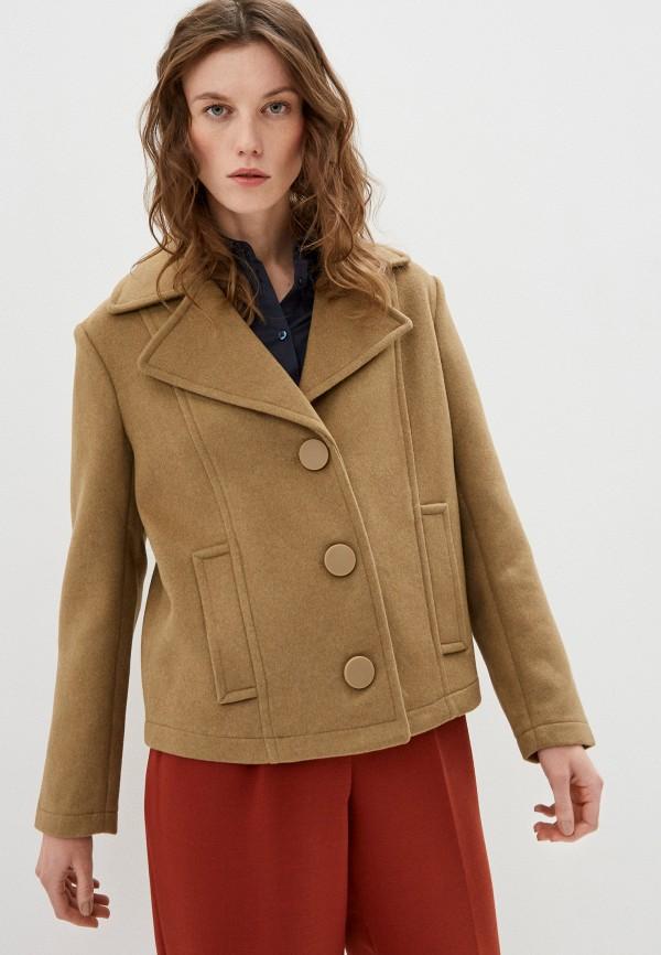 женское пальто armani exchange, коричневое
