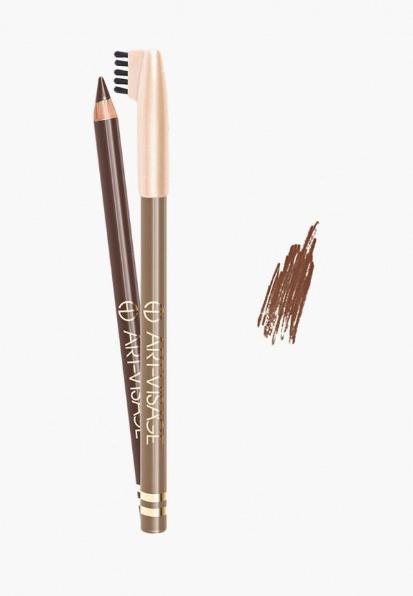 карандаш для бровей art-visage, коричневый