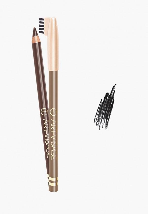 карандаш для бровей art-visage, черный