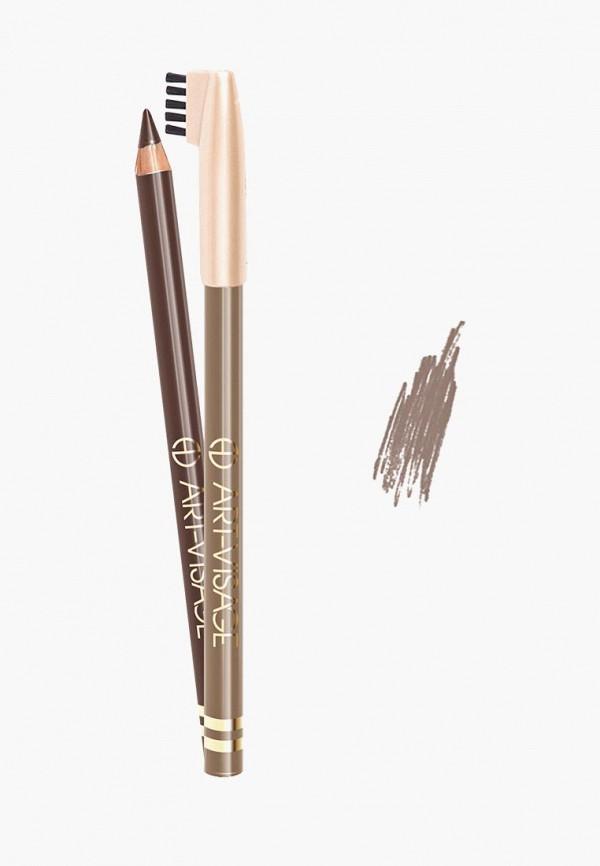 карандаш для бровей art-visage, серый