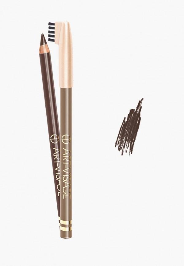 Купить Карандаш для бровей Art-Visage, Art-Visage AR044LWBGDL2, коричневый, Осень-зима 2018/2019