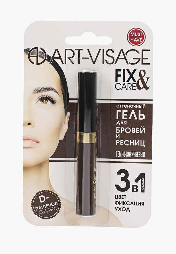 женский гель для бровей art-visage, коричневый