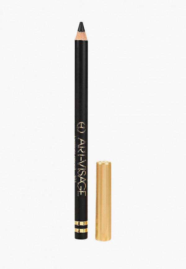карандаш для глаз art-visage, черный