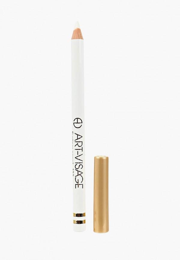 карандаш для глаз art-visage, белый