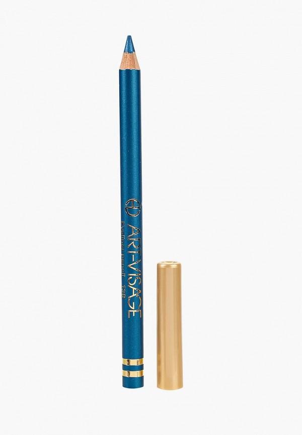 карандаш для глаз art-visage, бирюзовый
