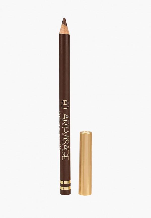 карандаш для глаз art-visage, коричневый