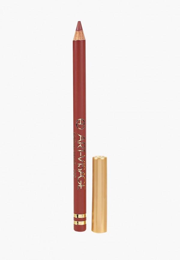 карандаш для губ art-visage, бордовый