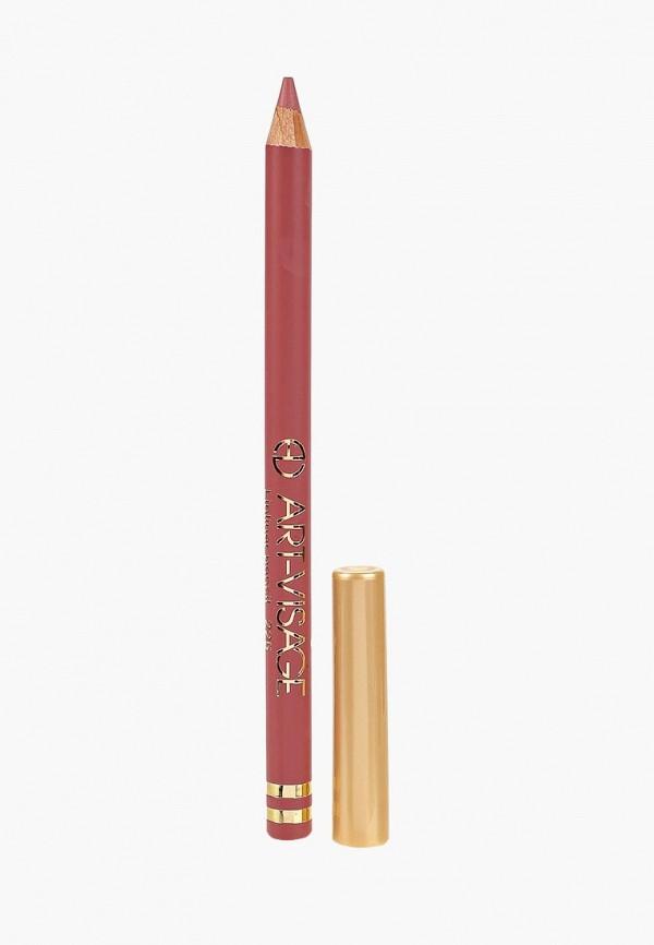 карандаш для губ art-visage, коричневый